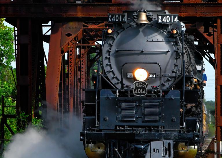 Big Boy 4014 Chugging Along - Vintage train fine-art photography prints