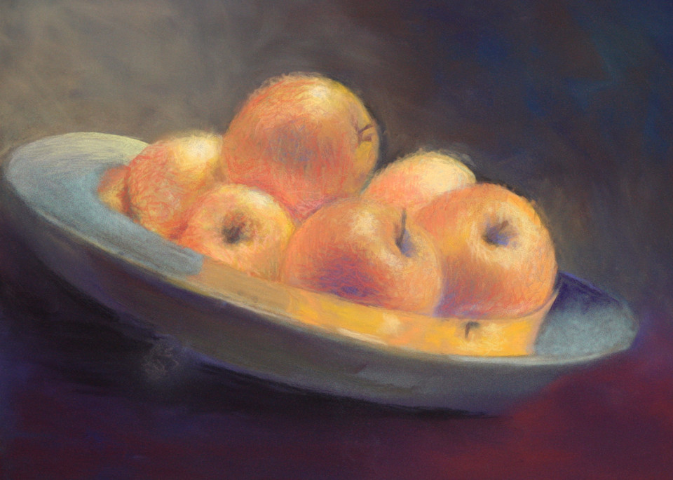 Proverbs 25:11 is about golden apples in silver bowl by Nancy Conant