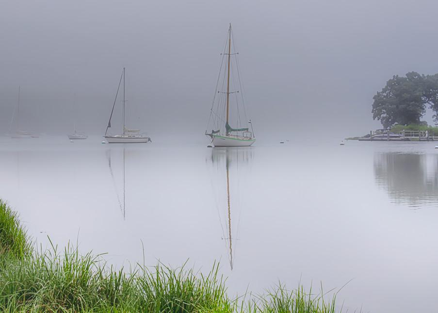 Lagoon Pond Fog Art   Michael Blanchard Inspirational Photography - Crossroads Gallery