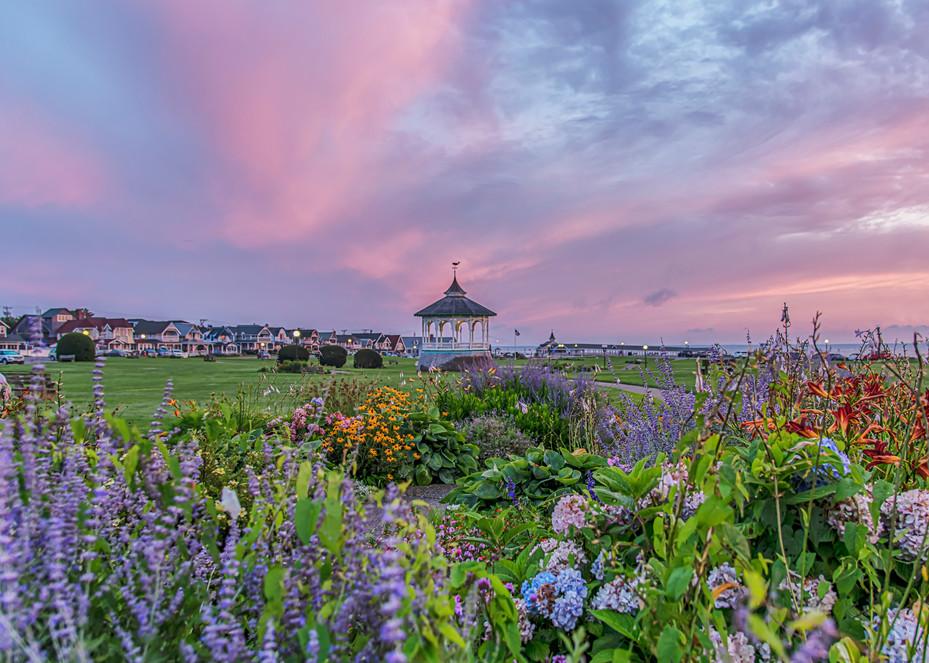 Ocean Park Summer Skies And Flowers Art | Michael Blanchard Inspirational Photography - Crossroads Gallery