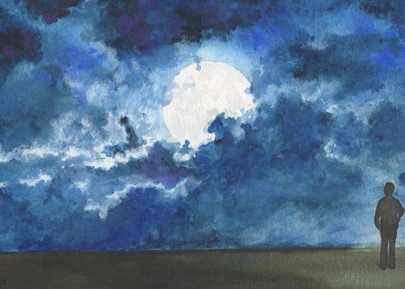 Moonlight Art   Artwork by Rouch