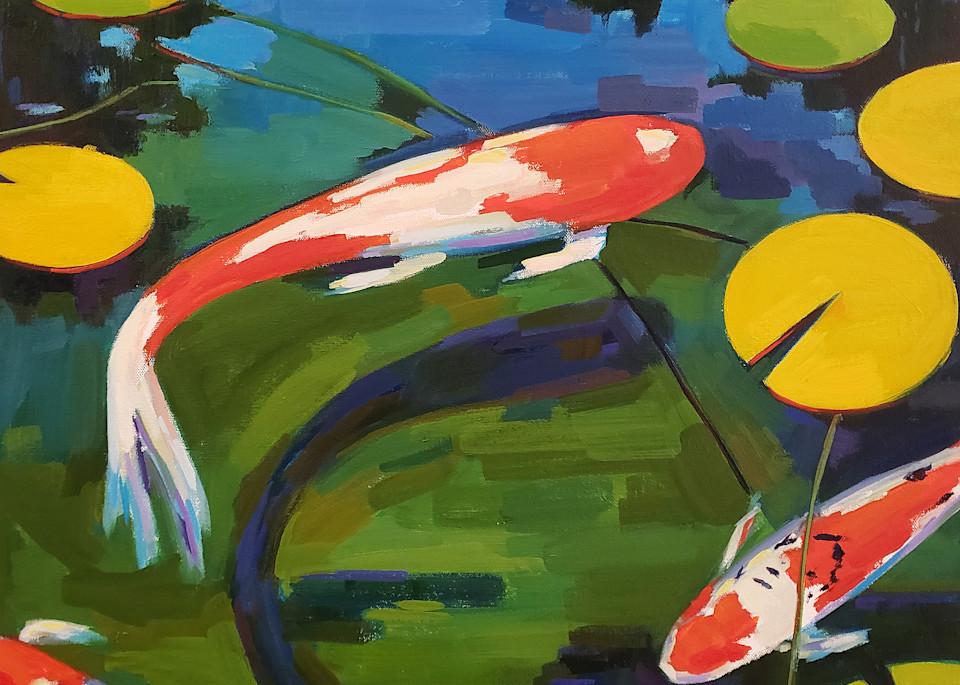 Three Koi Ii Art | Jenn Hallgren Artist
