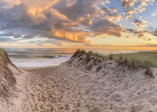 South Beach Late Summer Panorama Art | Michael Blanchard Inspirational Photography - Crossroads Gallery