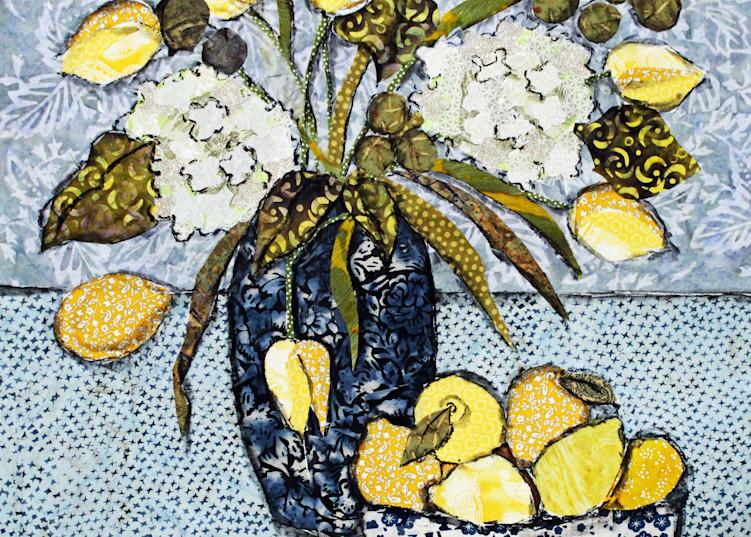 Tulips And Lemons Print Art   Sharon Tesser LLC