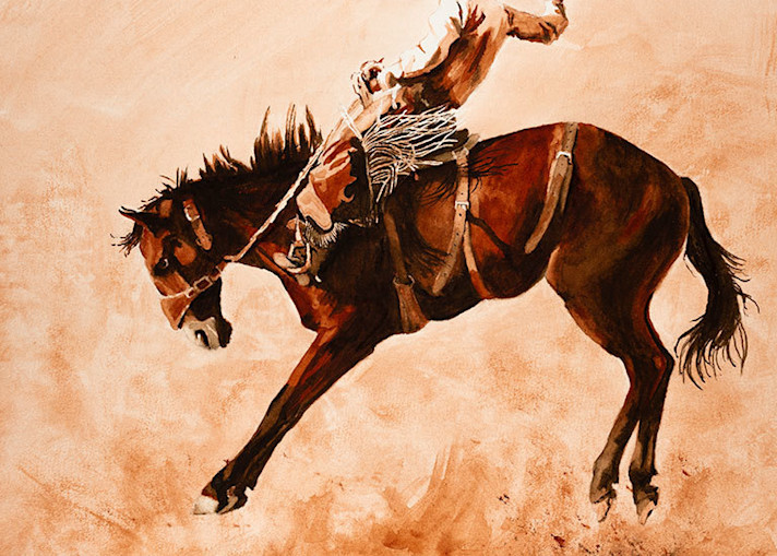 "Raymond Wattenhofer Fine Art Print ""Dust-up"""