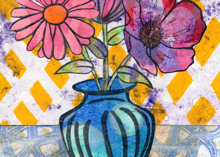 Apology: Mixed media Floral artwork by Jennifer Akkermans