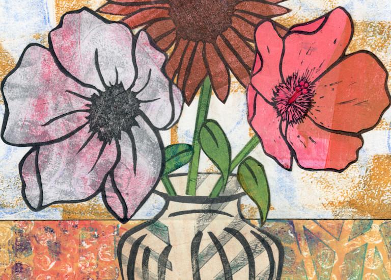 Sympathy: Mixed media Floral artwork by Jennifer Akkermans