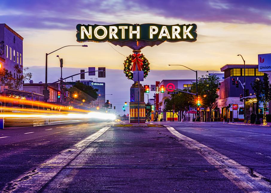 North Park, San Diego Sign Sunrise Fine Art Print