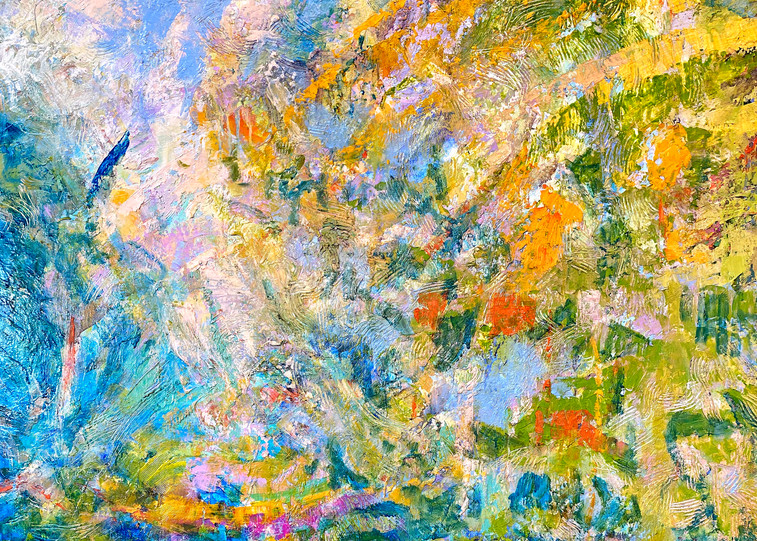Oversize Abstract Painting by Dorothy Fagan