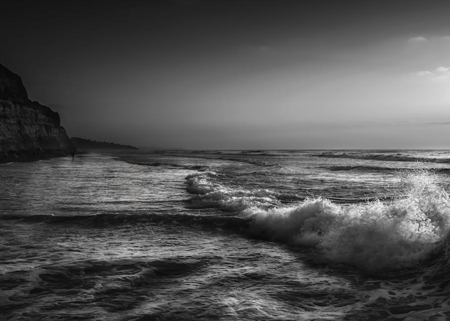 Backlit Waves @ Blacks Beach Photography Art   Rinenbach Photography