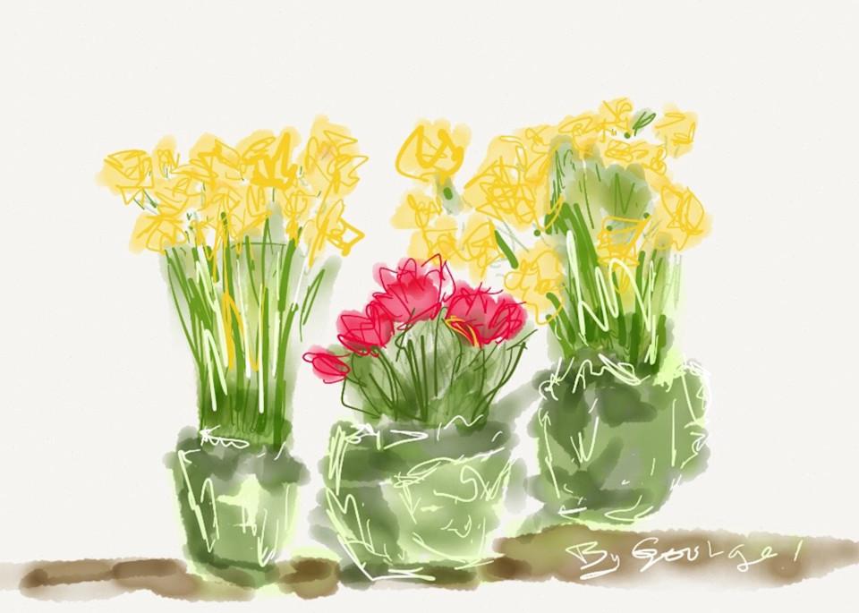 Sundayflowers Art   ART By George!