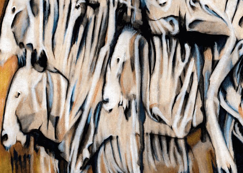 Herd Mentality No. 1, 2021 by artist Carolyn A. Beegan