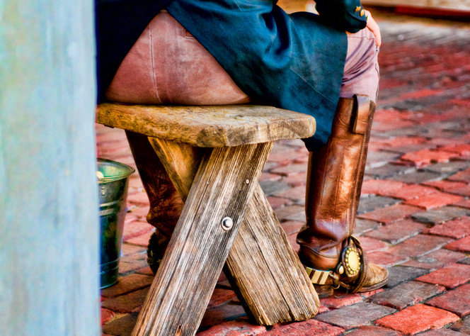 Red Brick Cowboy in Boots