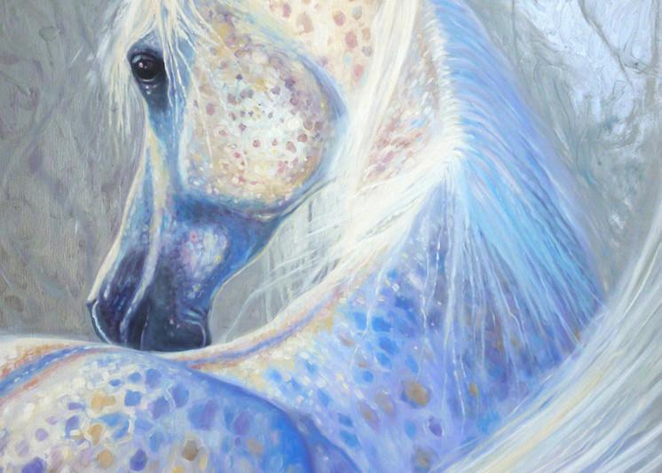 Print Of Silver Mare Art | Gill Bustamante Artist