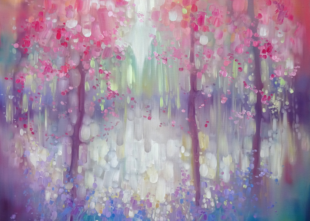 Print Of Spring Shimmers Art   Gill Bustamante Artist