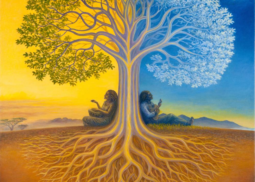 Djangoe's Tree custom print from the original painting by Mark Henson
