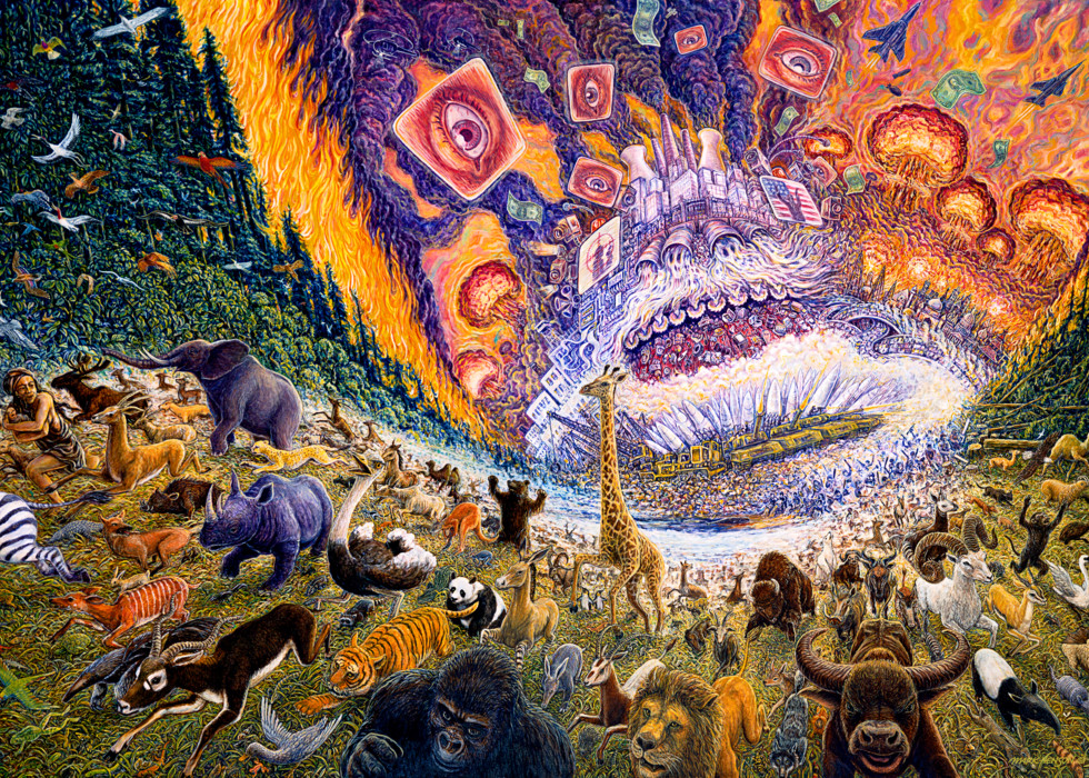 March of Progress custom print from the original painting by Mark Henson