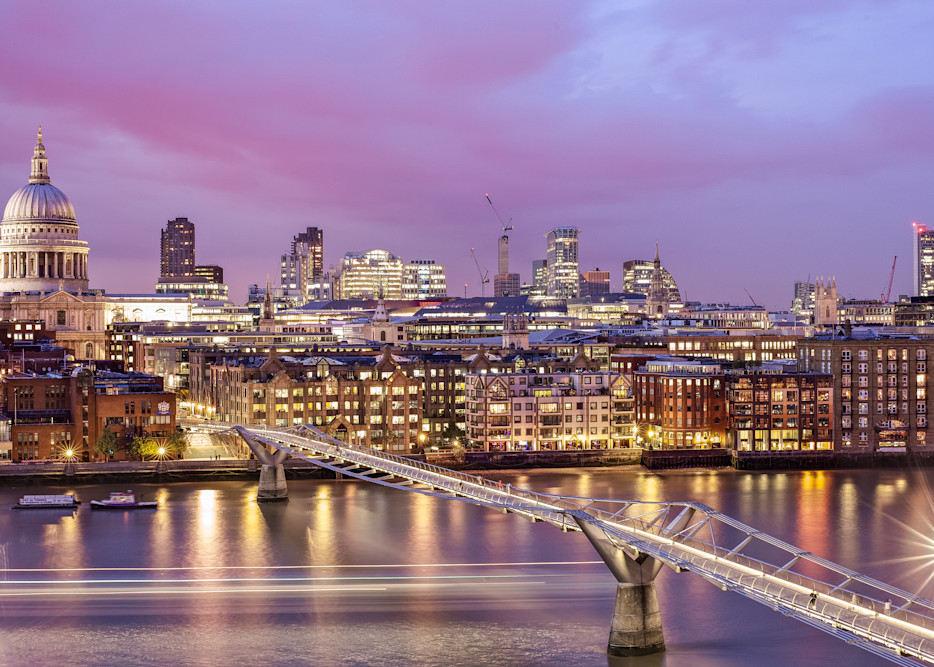 London Skyline From The Tate Modern   London Art Photography Store