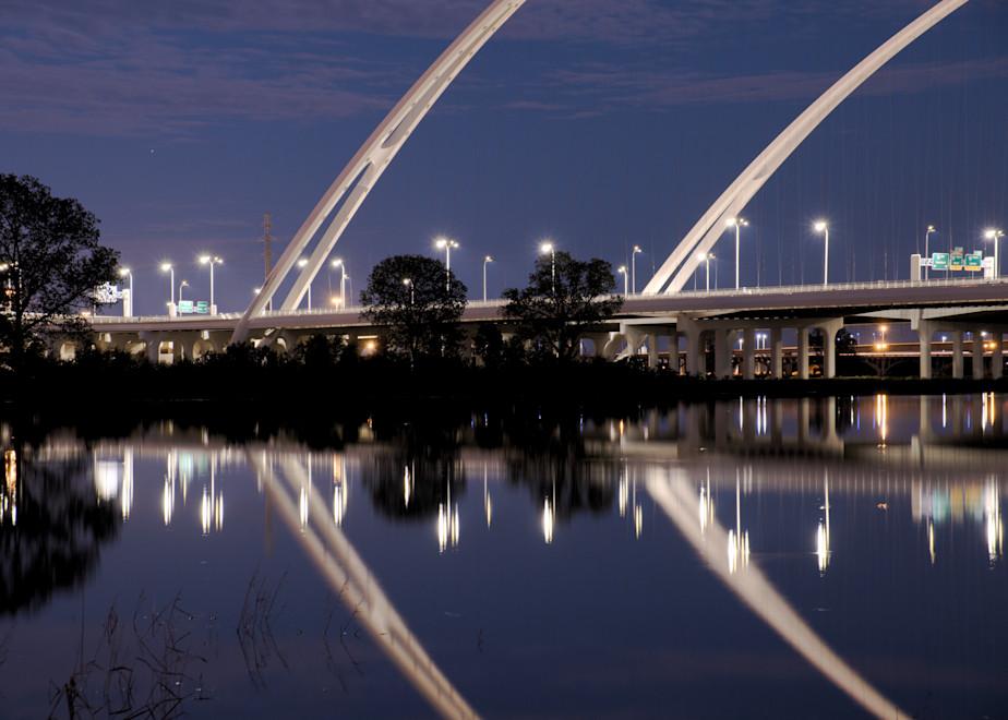 Margaret McDermott Bridge Close-Up at Night