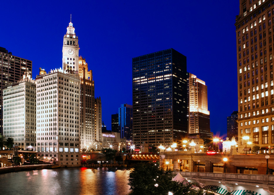 The Chicago River   Shop Photography by Rick Berk