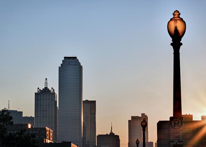 Dallas Skyline At Dawn 10 Photography Art | Drone Video TX