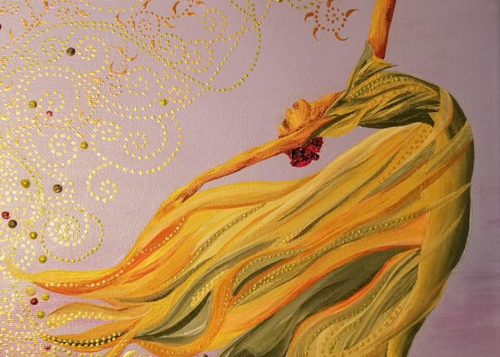 Flaming Backstroke Art | TAVolgenau