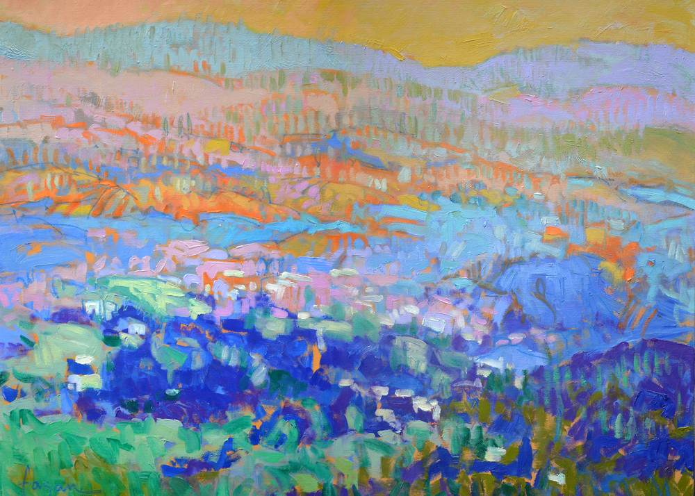 Abstract Mountain Landscape Fine Art Print Painting by Dorothy Fagan