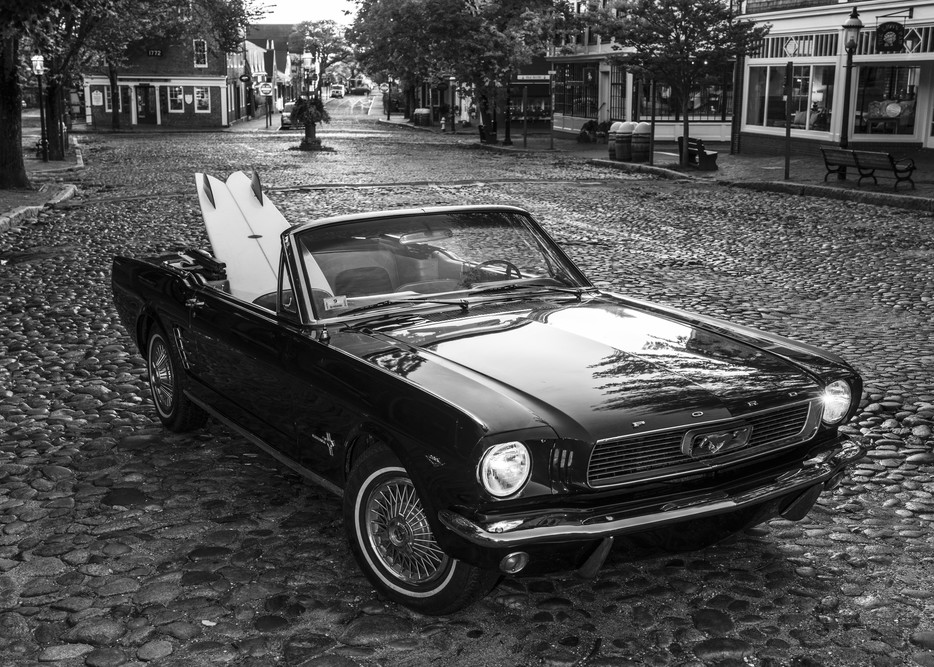 1965 Mustang With Vintage Surfboard #2 Photography Art | Kit Noble Photography