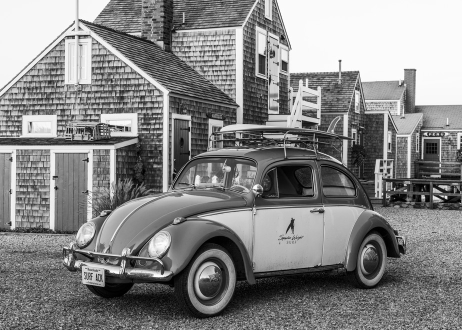 1968 Vw Beetle With  Surfboard #2 Photography Art | Kit Noble Photography
