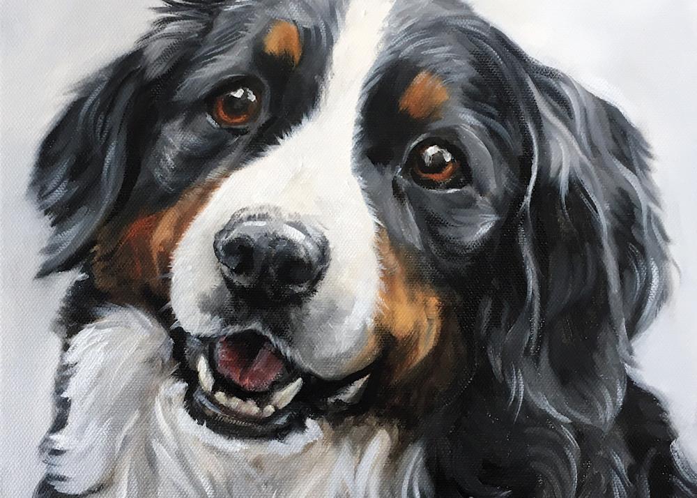 Bernese Mountain Dog Portrait Fine Art Print