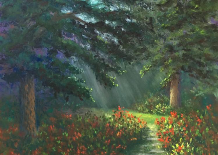 Glowing Garden Path Art | Mark Grasso Fine Art