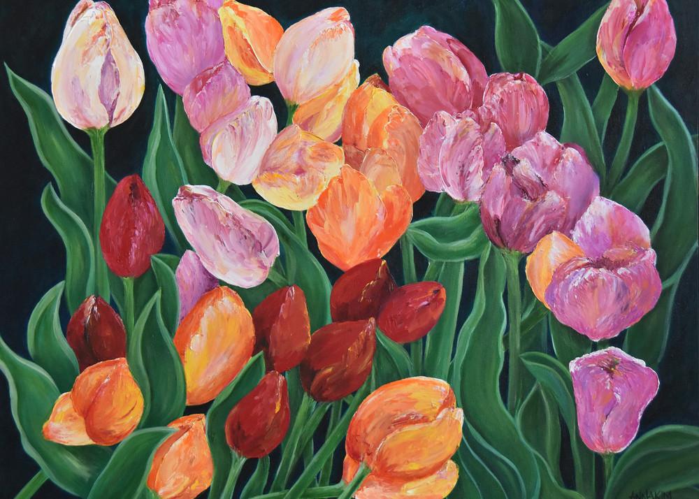 Tulips In Switzerland Art | Anna Kim Studio