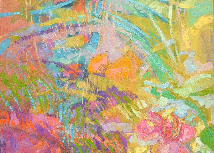 Oversize Abstract Painting, Canvas Edition Print by Dorothy Fagan