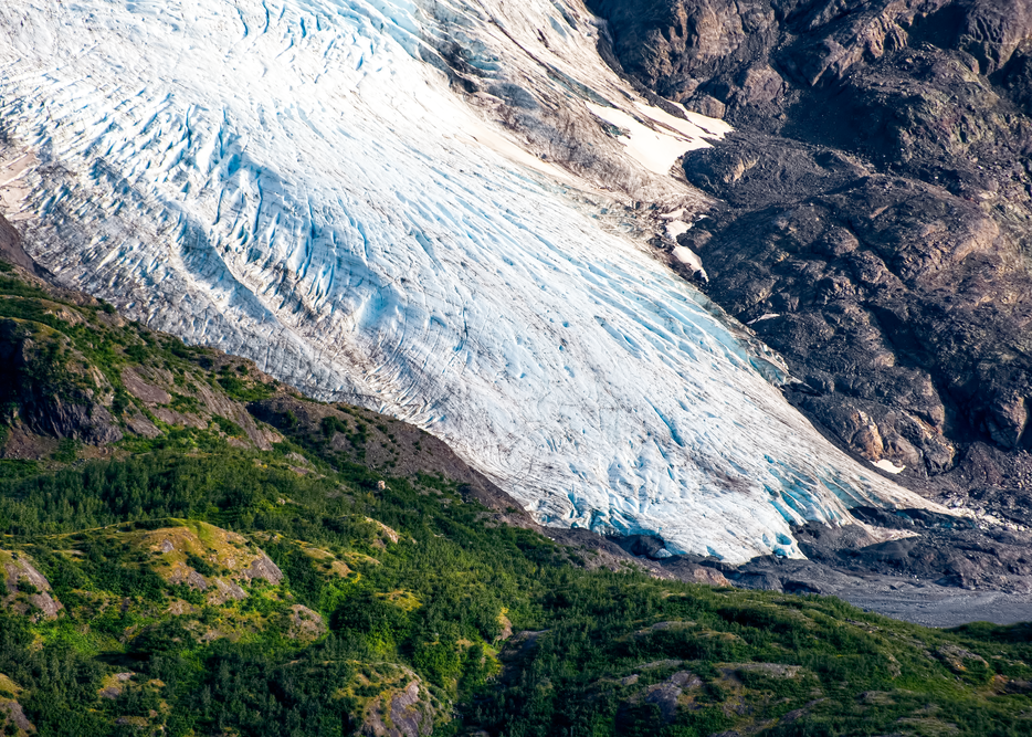 Portlock Glacier Terminus Aerial Photography Art | Eric Hatch