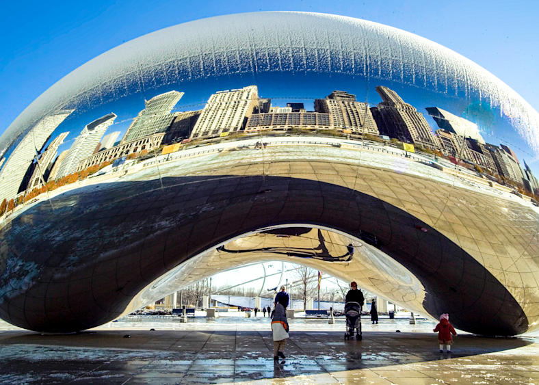 Chicago Bean In Winter Photography Art | Eric Hatch