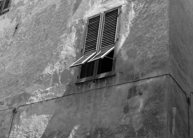 Albenga Italy Stucco And Shuttters Photography Art | Eric Hatch