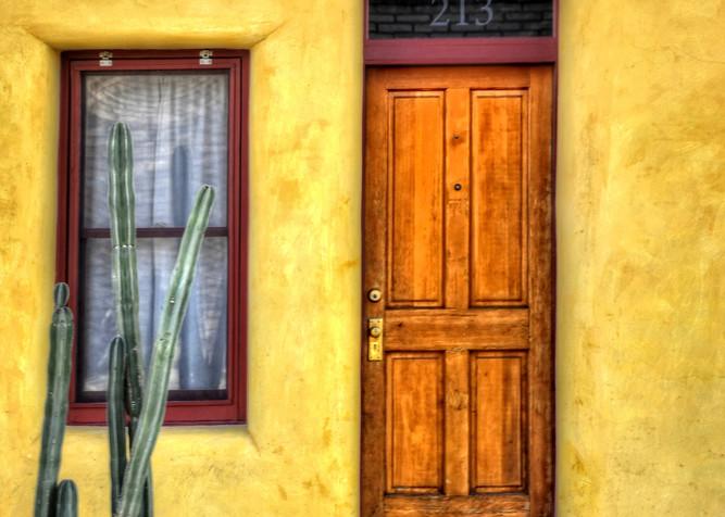 Door Window And Cactus Photography Art   Ken Smith Gallery