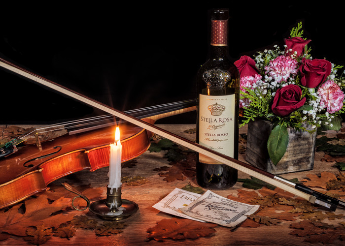 Wine Roses And Music Semi Panorama Photography Art | Ken Smith Gallery
