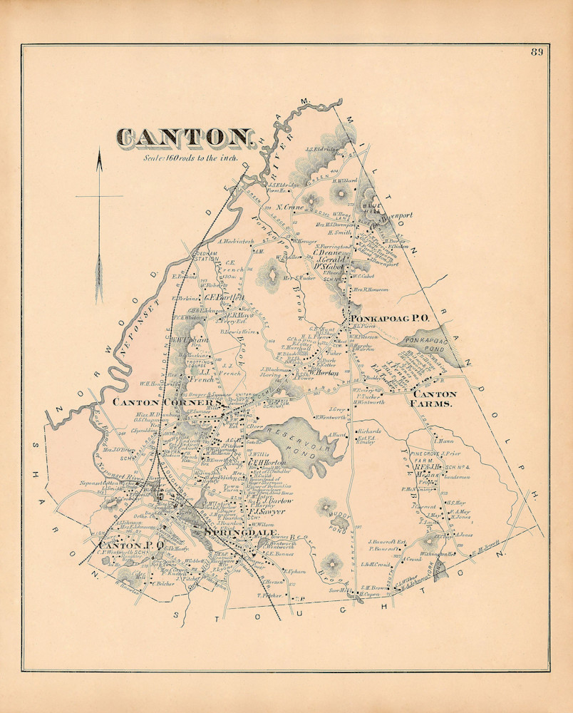 Canton Town 1876 Art | Frame Center