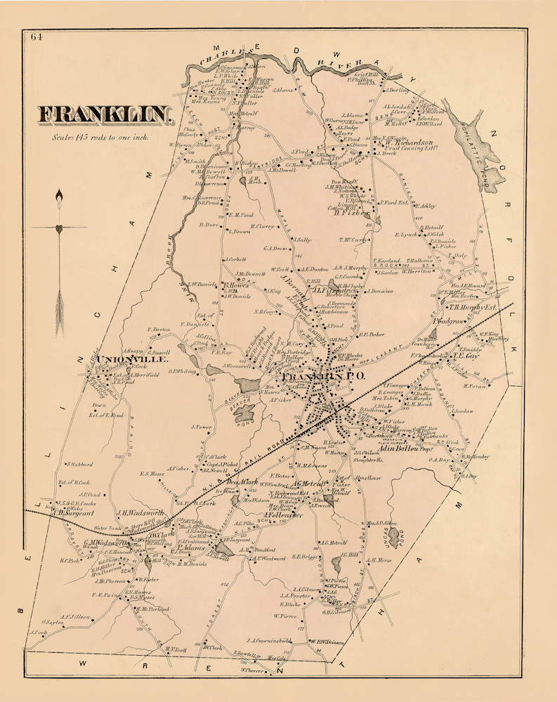 Franklin Town 1876 Art | Frame Center