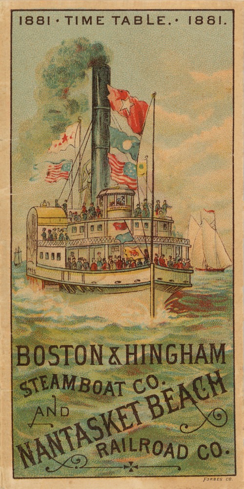 Boston+Hingham Steamship Company 1881