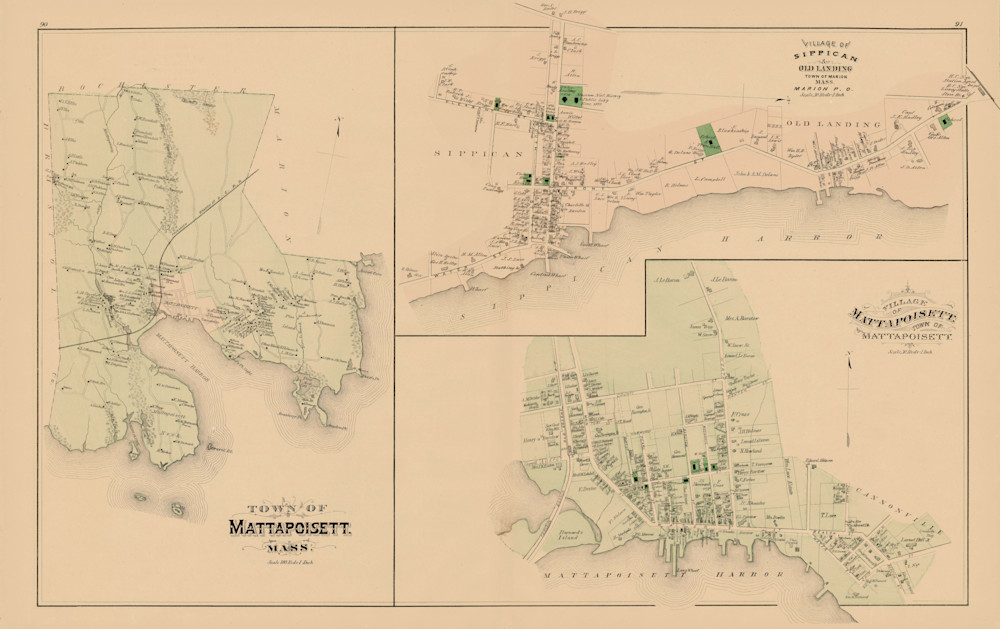 Mattapoisett Town + Villages 1879 Art | Frame Center