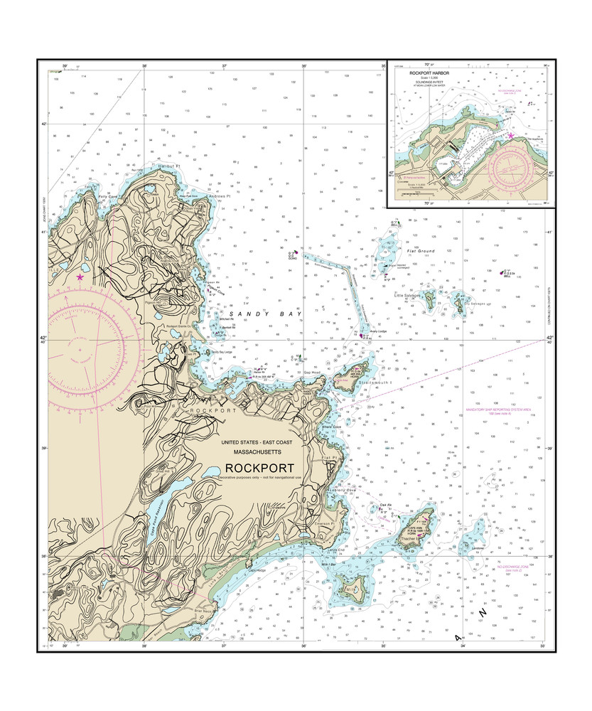 Rockport Nautical Chart