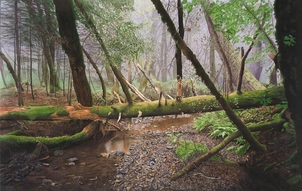 watercolor, watercolor landscape, California, Mt. Tamalpais, landscape
