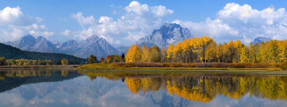 Autumn reflections in the Tetons