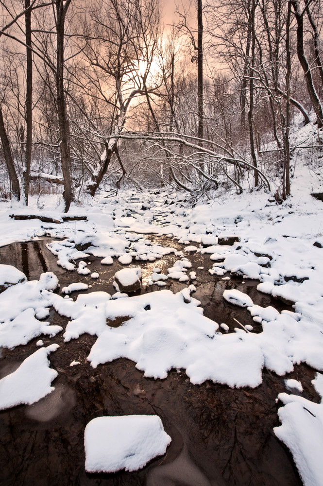 First snow at Duluth's Chester Creek