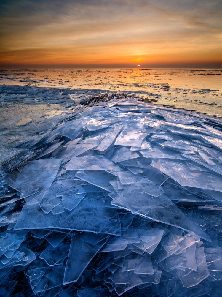 Shattered Ice along Lake Superior
