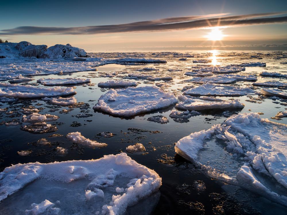 Spring Ice Breakup along Lake Superior