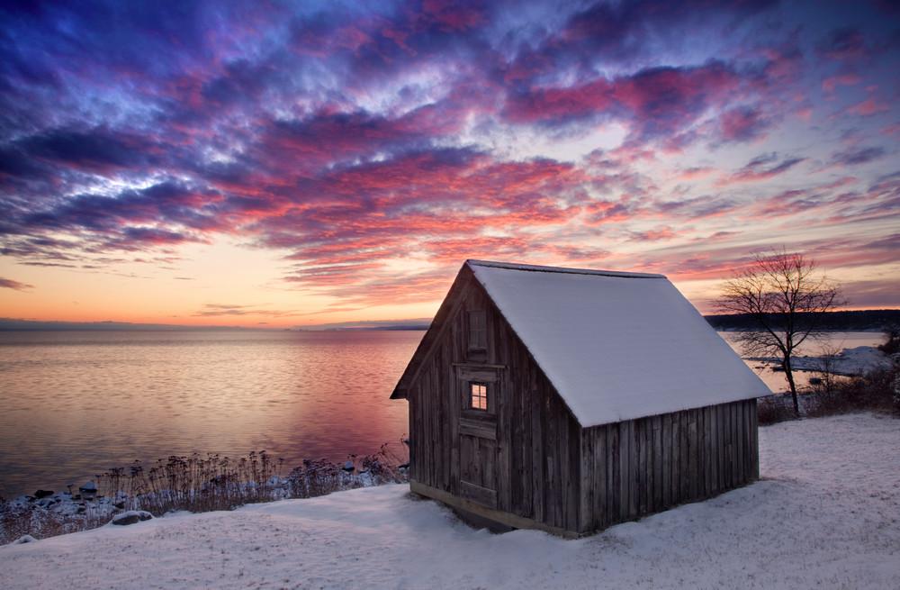 Sunset along Lake Superior's Stoney Point