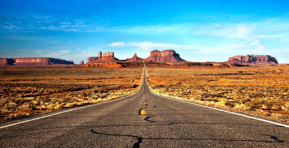 Open Highway in Monument Valley